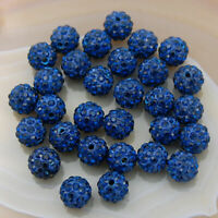 100PCS 10mm Shamballa Rhinestone Pave Clay Round Disco Ball Beads Beads Jewelry