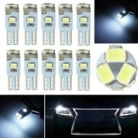 10x T5 Wedge 3020 LED 5-SMD Canbus Voiture Tableau Bord Lampe Ampoule Blanc 12V