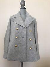 New J.Crew Size 14 Majesty Pea coat IN STADIUM CLOTH Coat # F4923 Dust / Gray