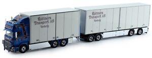 TEK74592 - Camion porteur SCANIA 13 R-serie dolly avec remorque aux couleurs des