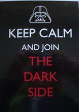 STAR Wars Darth Vader Keep Calm e unire il DARKSIDE BIANCO COMPLEANNO carta