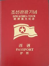 North Korea Passport for Tourists DPR KOREA TOUR dprk communist coree corea