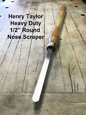 Henry Taylor  Heavy Duty Round Nose Scraper Woodturning Wood Lathe Chisel