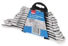 HILKA 11PC COMBINATION METRIC SPANNER WRENCH RING SET & STORAGE RACK 6-19MM NEW
