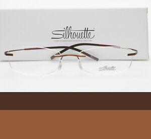 SILHOUETTE Rimless Eyeglasses 52mm 4248 40 6052 52-17-145 Brand New