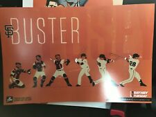 SF Giants Authentic Fan Cheer Card Poster Buster posey SGA 2019