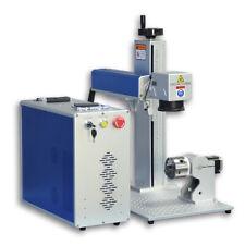 US Stock SFX JPT 50W Fiber Laser Marking Machine Engraver 175mm Lens 80mm Rotary