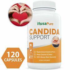 NusaPure Candida Cleanse Detox Yeast Supplement Infection Treatment 60 caps