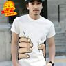 HOT NEW Men's Fashion 3D Printed Big Hand Print Funny Sleeve Short Tee T-Shirt