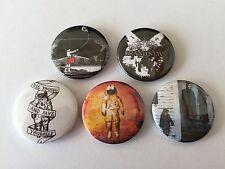 5 Brand New button Badges Deja Entendu The Devil and God are Raging Inside Me