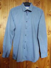 Ted Baker EnduranceSize 15.5 inch Neck Long Sleeve Cotton Shirt Blue