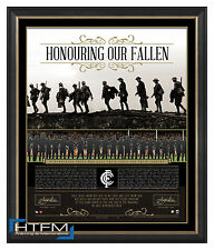 Carlton Honouring Our Fallen ANZAC Signed AFL Print Framed Murphy & Malthouse
