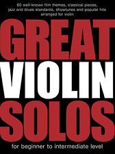 Great Violin Solos Music Book Jazz Blues Classical NEW
