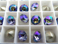 12 Tanzanite Glacier Blue Swarovski Crystal Chaton Stone 1088 39ss 8mm