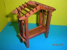 Dollhouse Mini Half Inch Scale Garden Bench