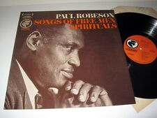 PAUL ROBESON Songs Of Free Men Spirituals ODYSSEY NM! Stereo