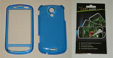 Blue Hard Plastic Case & Screen Protector For Samsung Epic 4G D700