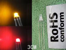 10pc 3mm Bi-Polar Red Yellow  Flash Common anode 3-pin Led 3v-12v free resistor
