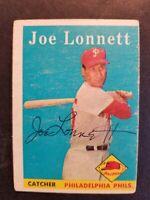 Joe Lonnett Philadelphia Phillies 1958 Topps autographed Baseball Card