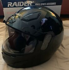 Raider Full-Face Snowmobile Helmet Black, Small