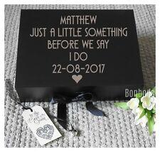 Personalised Grooms Gift Box, Wedding Keepsake, Groomsman Box, Wedding Gift