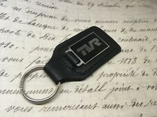 TVR ENAMEL Quality Black Real Leather Keyring CERBRA TUSCAN GRIFFITH CHIMAERA