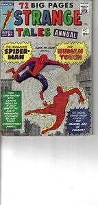 Strange Tales Annual 2 Spider-Man Human Torch G/VG 1963 Glossy Double Size