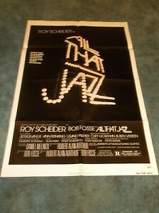 "ALL THAT JAZZ(1979)ROY SCHEIDER ORIGINAL ONE SHEET POSTER 27""BY41"" NEAR MINT!"
