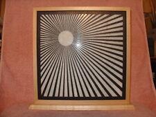 Handmade Art Sandblast Sunburst Lighted Display  Gift   Marble Curio