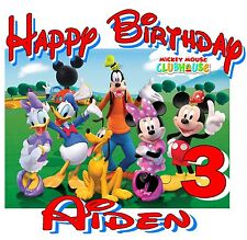 New Personalized Mickey Mouse clubhouse Minnie birthday t shirt party favor gift