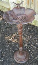 Cast Iron Bird Bath w/ Hummingbird & Flower - Lawn & Garden Birdbath Birdbaths