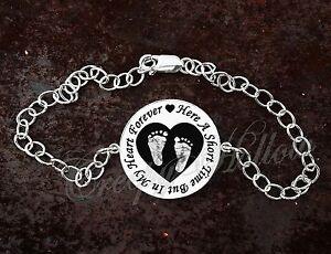 Sterling Silver Bracelet Heart Forever Infant Loss Stillbirth Miscarriage
