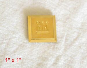 2006 - 2011 CHEVROLET GMC 24K GOLD PLATED GM MARK OF EXCELLENCE EMBLEM 15223484