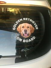 Golden Retriever Sticker - Dog Sticker - Dog Car Sticker - Dog On Board Sticker