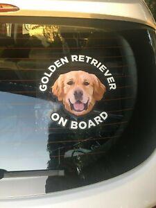 Golden Retriever Sticker - Golden Retriever Car Sticker Window Decal 15cm X 15cm