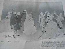 CAPPIELLO the Gavotte the morning of Gala Trocadero Article Original Print 1903