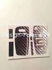 Carbon Chrom Silber Folie  Schlüssel Audi TT A1 8J A6 A3 8p A4 4F S3 S4 B7 Q7 RS