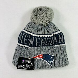NWT Genuine NFL NEW ENGLAND PATRIOTS New Era Cap with Removable Pom Knit Beanie