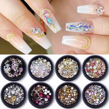 3D Nail Art Rhinestones Glitter Rose Jewelry Crystal Gems Rivet Mixed Decoration