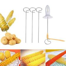 DIY Rotate Potato Slicer durable Manual Stainless Steel +Plastic Twisted ^-^