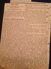 F7-1 Ephemera Article Ww1 Dover Mining News Guildford Colliery Syndicate