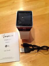 BrightWrist Smart Watch Wearable Technology, White-Silver