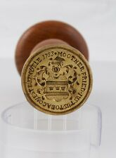 More details for dated antique wax seal in response to first tobacco act 1723
