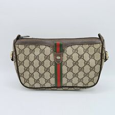 READ DESC! Vintage GUCCI  89-02-054 Accessory Collection Brown Bag