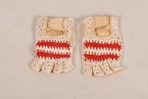 Crochet & Leather Retro Road Bike Gloves Rossin Leather Gloves Rare NOS
