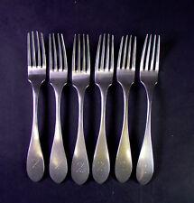 - 6 - Silber Gabeln - 13 Lot  - Braun