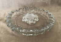 "Vintage Fostoria Large ""Coin"" Glass 10"" Round Ash Tray"