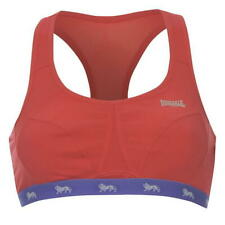 Lonsdale Womens Ladies Crop top sports running gym Bra Diva Pink  36B A431-34
