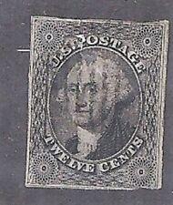 U.S. 1851-56 CHERRY Classic Postsge Stamp12c Washington #17(?) WYSIWYG NRLot
