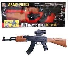 Large Kids Army Toy AK-47 Assault Rifle Swat Gun Light Sound & Vibration 82cm